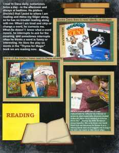Page about reading